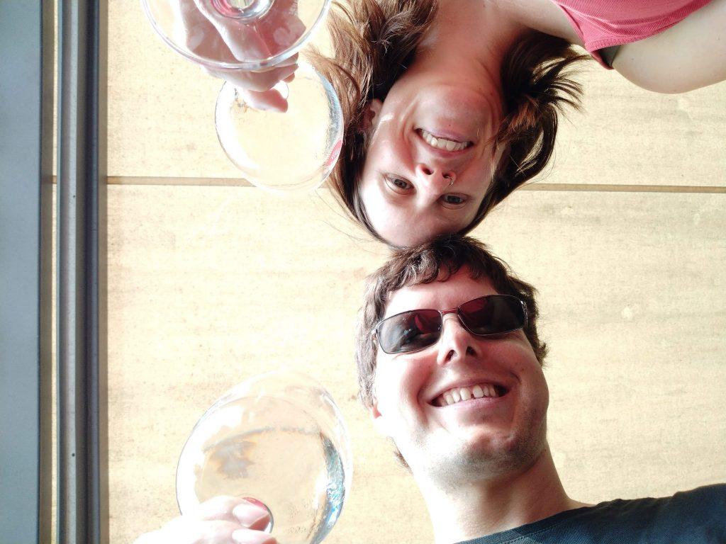 Programmierpause mit Wein